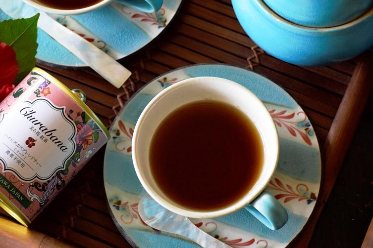 美ら花紅茶 ハイビスカスブレンドティー リーフ缶
